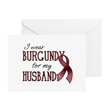 Wear Burgundy - Husband Greeting Cards (Pk of 20)