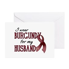Wear Burgundy - Husband Greeting Cards (Pk of 10)