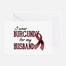 Wear Burgundy - Husband Greeting Card