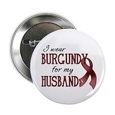 """Wear Burgundy - Husband 2.25"""" Button"""