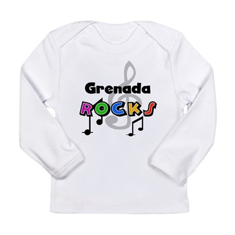 Grenada Rocks Long Sleeve Infant T-Shirt