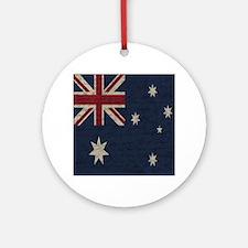 Vintage Australian flag Round Ornament