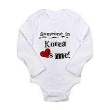 Korea Loves Me Long Sleeve Infant Bodysuit