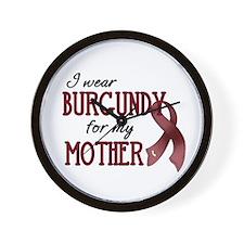 Wear Burgundy - Mother Wall Clock