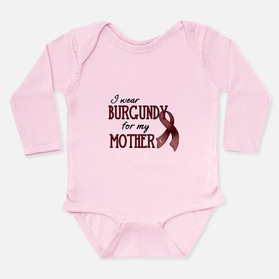 Wear Burgundy - Mother Long Sleeve Infant Bodysuit