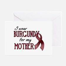 Wear Burgundy - Mother Greeting Card