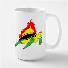 Flaming Sea Turtle Mug