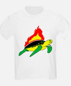 Flaming Sea Turtle T-Shirt
