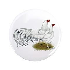 """Yokohama White Chickens 3.5"""" Button (100 pack"""