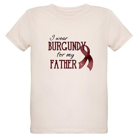 Wear Burgundy - Father Organic Kids T-Shirt