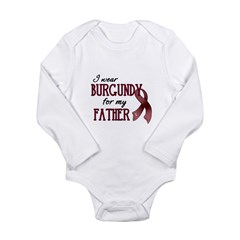 Wear Burgundy - Father Long Sleeve Infant Bodysuit