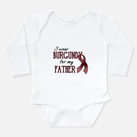 Wear Burgundy - Father Long Sleeve Infant Bodysuit
