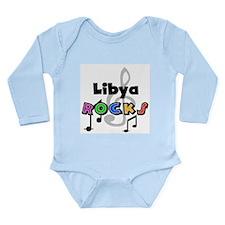 Libya Rocks Long Sleeve Infant Bodysuit