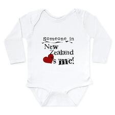New Zealand Loves Me Long Sleeve Infant Bodysuit