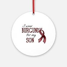 Wear Burgundy - Son Ornament (Round)
