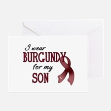 Wear Burgundy - Son Greeting Card