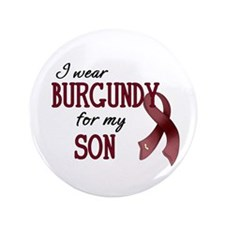 "Wear Burgundy - Son 3.5"" Button"