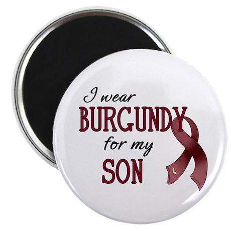 "Wear Burgundy - Son 2.25"" Magnet (100 pack)"