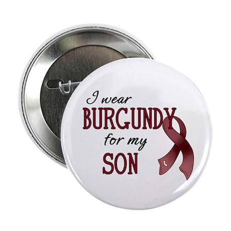 """Wear Burgundy - Son 2.25"""" Button (10 pack)"""