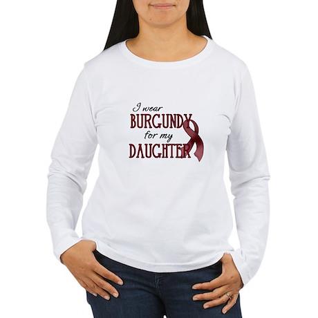 Wear Burgundy - Daughter Women's Long Sleeve T-Shi