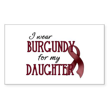 Wear Burgundy - Daughter Sticker (Rectangle)