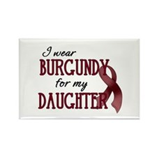 Wear Burgundy - Daughter Rectangle Magnet