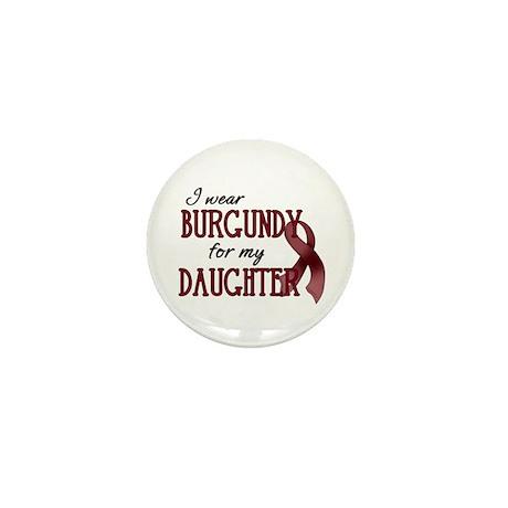 Wear Burgundy - Daughter Mini Button