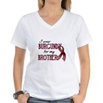 Wear Burgundy - Brother Women's V-Neck T-Shirt