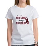 Wear Burgundy - Brother Women's T-Shirt