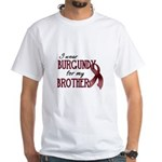 Wear Burgundy - Brother White T-Shirt