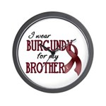 Wear Burgundy - Brother Wall Clock