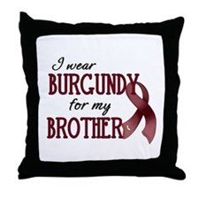 Wear Burgundy - Brother Throw Pillow