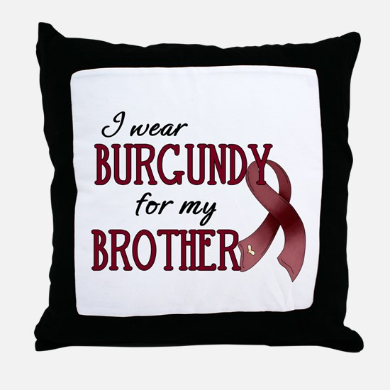 Wear Burgundy - Brother Throw Pillow