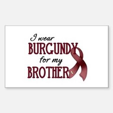Wear Burgundy - Brother Decal