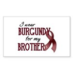 Wear Burgundy - Brother Sticker (Rectangle 10 pk)