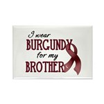 Wear Burgundy - Brother Rectangle Magnet (10 pack)