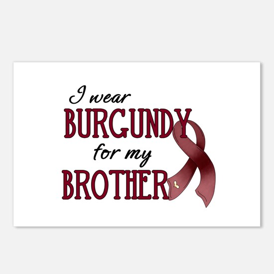 Wear Burgundy - Brother Postcards (Package of 8)