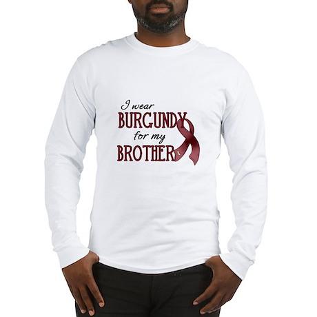 Wear Burgundy - Brother Long Sleeve T-Shirt