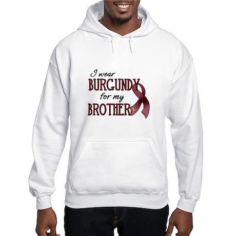 Wear Burgundy - Brother Hooded Sweatshirt