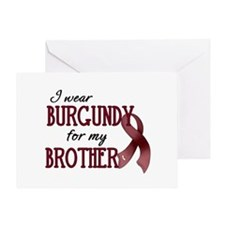 Wear Burgundy - Brother Greeting Card