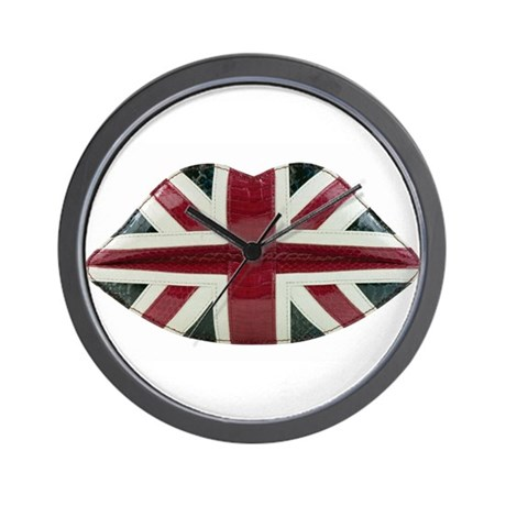 Union Jack Lips Wall Clock