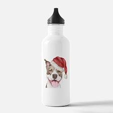 Christmas Pit Bull Terrier Water Bottle