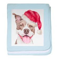 Christmas Pit Bull Terrier Infant Blanket