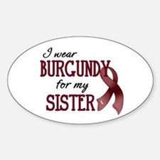 Wear Burgundy - Sister Sticker (Oval)