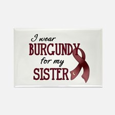 Wear Burgundy - Sister Rectangle Magnet
