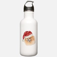 Christmas Pomeranian Water Bottle