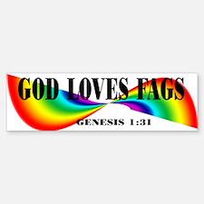God Loves Fags Bumper Bumper Bumper Sticker