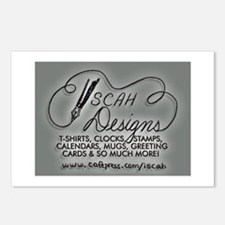 ISCAH DESIGNS Postcards (Package of 8)