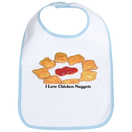 """I Love Chicken Nuggets"" Bib"