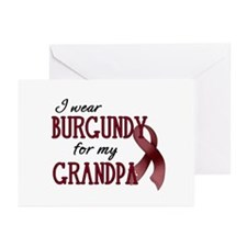 Wear Burgundy - Grandpa Greeting Cards (Pk of 20)